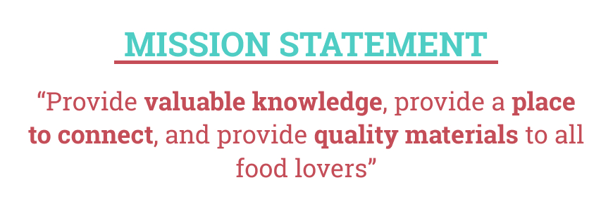 Foodie Fanatic's Mission Statement
