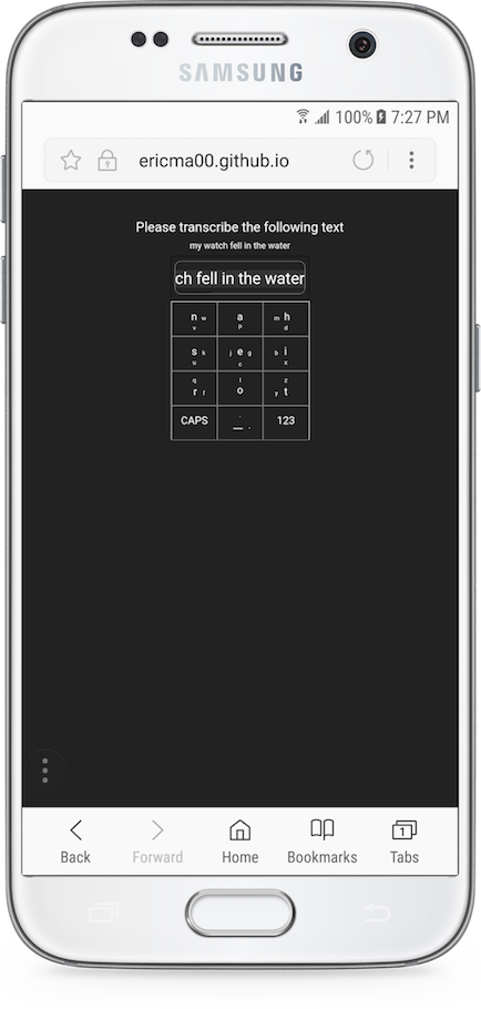 Image of NineBoard on Silver Samsung Galaxy S7